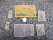 Champ decals HO PH-83A Southern Pacific Golden State passenger car J50