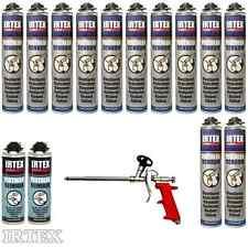 MEGA Set Pistolenschaum 12 x 750 ml + Gratis 2 Reiniger und 1 Pistole Bauschaum