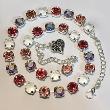 Crystal Cup Chain Necklace  Made With Genuine Swarovski Crystal  FREE SHIPPING!