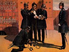 ADVERTISING CULTURAL EXHIBITION ESCAPOLOGY HARRY HOUDINI ART POSTER PRINT LV646