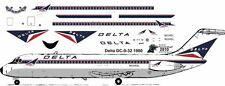 Delta McDonnell Douglas DC-9-32  airliner decals for Airfix 1/144 kits