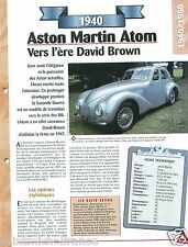 Aston Martin Atom/Claude Hill 4 Cyl. 1940 England UK Car Auto Retro FICHE FRANCE