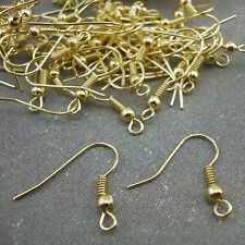 100 Gold Plated Earring Fish Hooks Earwires NICKEL FREE