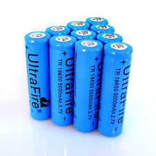 10pcs 18650 Battery 3.7v Li-ion Blue Rechargeable Batteries From USA