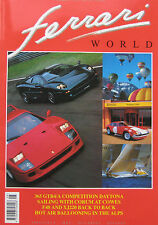 Ferrari World magazine No.23 Aug/Sept 1993 featuring F40, Jaguar XJ220, 348