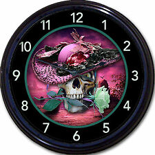 Steampunk Skull Skeleton Clock lady Hat Vintage Gothic Goth Victorian New 10""