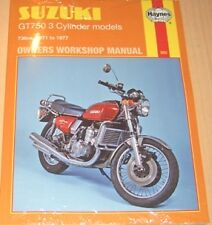 Haynes Workshop Manual for SUZUKI T GT  GT750  1971 to 1977