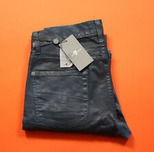 7 for all Mankind Slimmy Leather Denim Indigo 29 RRP £220