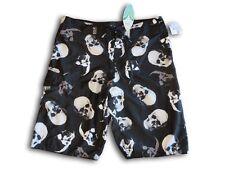 Boys MXTN Skull Print Board Shorts / Boardies ~ Size 14 ~ New ~ European Import
