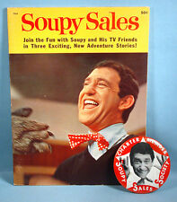 1960s Soupy Sales Society Charter Member Pinback Badge & 1965 TV Storybook