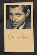 Clark Gable Autograph Reprint On Genuine Original Period 1940s 3x5 Card