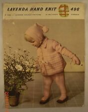 Girl's Pram Set - 496 - Lavenda Hand Knit - 4 Knit Patterns