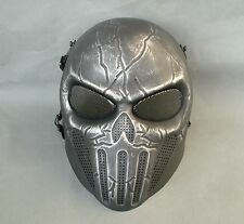 Black Silver Airsoft Paintball ABS Protection Skull Mask Simple Practical JD28