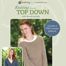 NEW DVD: KNITTING FROM THE TOP DOWN Knit Sweaters Join Shaping Provisional