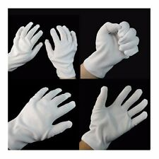 5 PAIRS 10 PCS WHITE WORK JEWELLERY HANDLING COSTUME COTTON SOFT THIN GLOVES