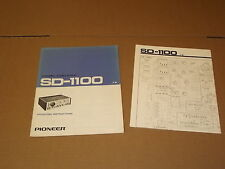 Pioneer SD-1100 Display Original Operating Instructions Owners Manual