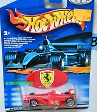 HOT WHEELS 1:64 FERRARI FORMULA F-1 2000 GRAND PRIX RACER INTERNATIONAL CARD