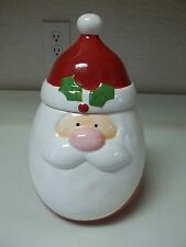 Oneida Christmas Cut Outs Cookie Jar Santa Claus Earthenware NEW