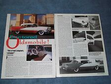 "1956 Oldsmobile 88 Hardtop Mild Custom Article ""Doctored Oldsmobile"""