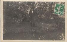 Carte photo ancienne détente à la pêche 1923 envoyé à Mr Landrin Chateaubriand