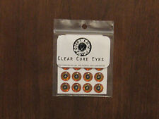 "Fly Tying- Clear Cure Adhesive Eyes 3/8""- 10mm Gold"