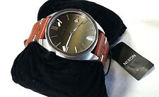 NIXON Men's SUPREMACY Wrist Watch - A353 400 - Brown - NWT