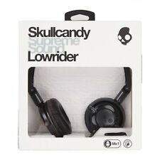 Skullcandy Lowrider On-Ear Foldable Stereo Headphones w/Mic Headset (Black) NEW