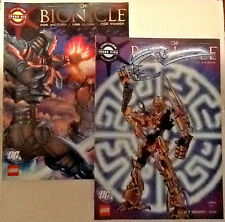 lot of 2 DC Bionicle Glatorian (2009) Lego comic books #5 & 6 excellent Pop Mhan