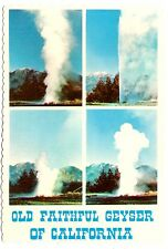 Old Faithful Geyser California Postcard Mt St Helena Napa Valley Vtg Unposted