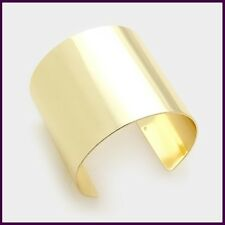 Gold Metal Cage Cuff Statement Solid Bracelet Chic Stylish Celebrity Plain NEW