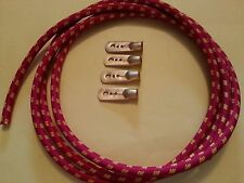 Vintage Bullnose Morris Cowley Spark Plug HT Lead Kit GA4 Magneto Red Braided