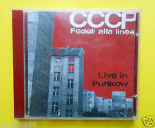 compact disc,cds,rock,punk,cccp fedeli alla linea,live in punkow,rare cd 1996,gq