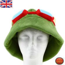 LOL league of legends Teemo Cosplay Party Calentitos Gorra Verde Ejército P5