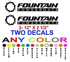 FOUNTAIN POWER BOATS  STICKERS +ANY COLOR+   pair boat