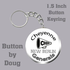 Cheerleader Keyring/Bag Tag Personalized with Name, Team, Number 1.5 Inch Charm