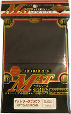 80 KMC Mat Dark Brown CARD BARRIER Japanese Deck Protectors MTG MAGIC POKEMON