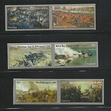 #4787-4788, #4910-4911, #4980-4981 Pairs, The Civil War issued 2013, 2014, 2015