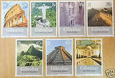 INDIA THEME GIBRALTAR MNH SET OF 7 STAMPS ON SEVEN WONDER OF THE WORLD TAJ MAHAL