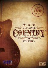 ULTIMATE COUNTRY VOL 1 SBI KARAOKE DVD - 115 HIT SONGS