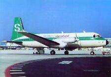 Skyways International Hawker Siddeley HS-748 G-ARMW at Frankfurt Postcard