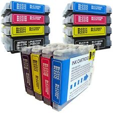 12 BROTHER MFC-465CN compatible printer ink cartridges