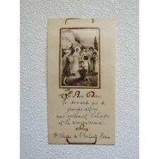 IMAGE PIEUSE ANCIENNE, Faite Main, Citation de Ste Thérèse de l'Enfant-Jésus