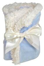 Stephan Baby Blue Sherpa Blankie Ultra Soft Reversible Velour Security Blanket