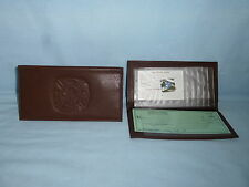 FIRE FIGHTER  Fireman     Leather Checkbook    NEW    dark brown
