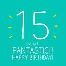 Happy Jackson Card: Happy Birthday FIFTEEN 15 - New in Cello Post Daily & WW