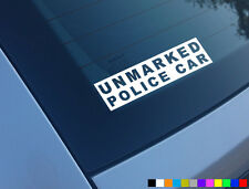 UNMARKED POLICE CAR FUNNY CAR STICKER DECAL JDM JAP DUB WINDOW BUMPER VINYL