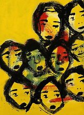 ALL THE SINGLE LADIES T-Marie Nolan Outsider RAW Folk Art Brut Painting NAIVE