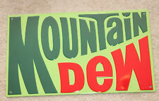 Vintage Style Embossed Mountain Dew Metal Signs Soda bottle 1970 Logo