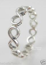 INFINITE SHINE Genuine PANDORA Sterling Silver INFINITY SIGN Band RING 7/54 NEW