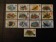 Bermuda Stamp SG 387,89,91/92,94/401 part set 12 of 17 FU plus SG 534 opt 90c.